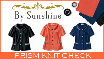企業受付 金融機関受付【PRISM KNIT CHECK】By Sunshine